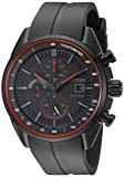Drive From Citizen Eco-Drive Men's Quartz Stainless Steel and Polyurethane Casual Watch, Color: Black (Model: CA0595-11F)