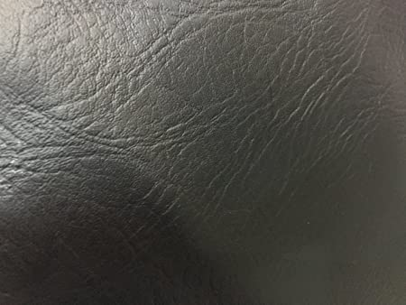 Jet Black Textured Heavy Duty Faux Leather Fabric Upholstery Car Seats  VW/BMW Fabric Vinyl
