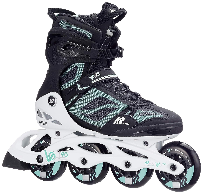 ccddd9c3948 Amazon.com : K2 Women's V02 90 Pro Inline Skates - Black/White/Mint - 7.5 :  Sports & Outdoors