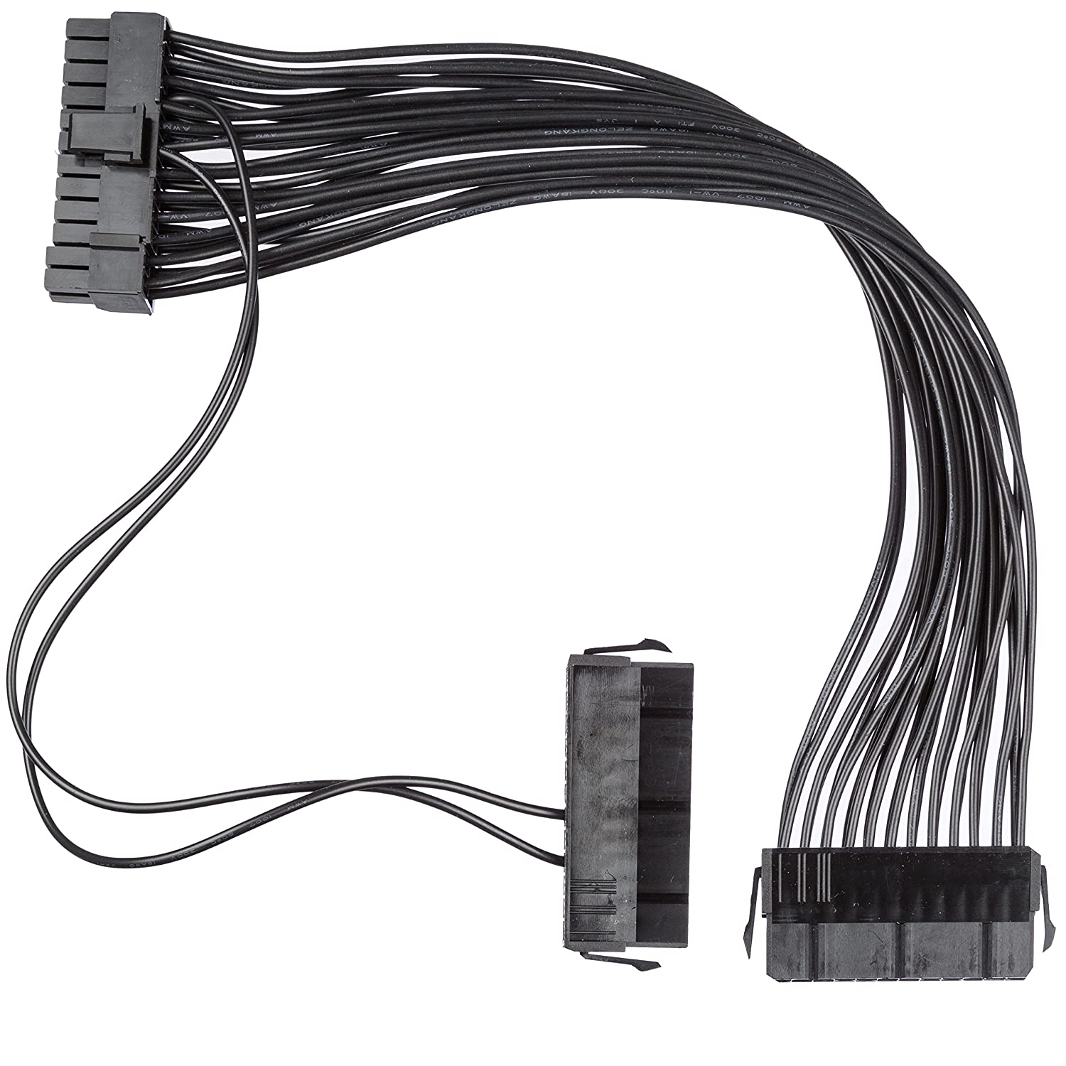 New Dual 24-Pin ATX Power Supply Motherboard Adapter Cable for Using Two PSU's by Cryptosaur Gear
