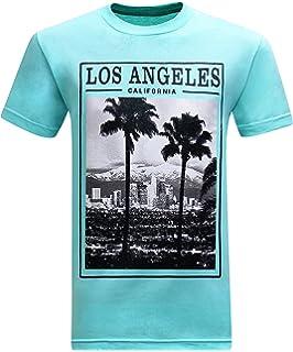 84463a7df Amazon.com  Cool Los Angeles Tshirt With Skeleton LA Sign  Clothing