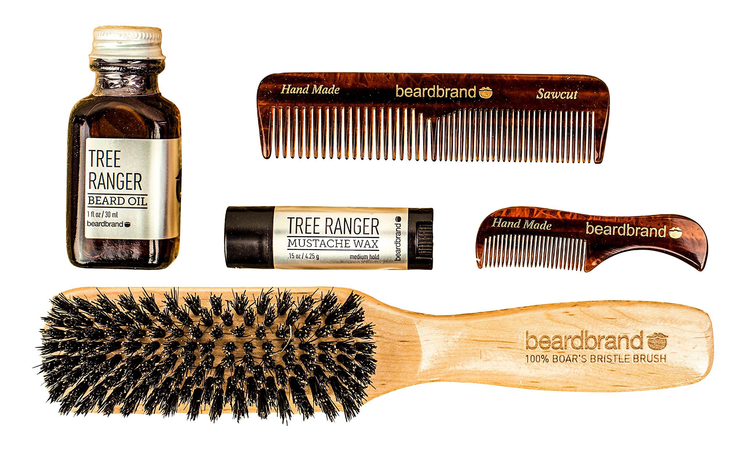 Beard Care Grooming Gift (5 Piece Kit) - All in one Beard Grooming Set - Great Gift For Men - Groomsman Gift