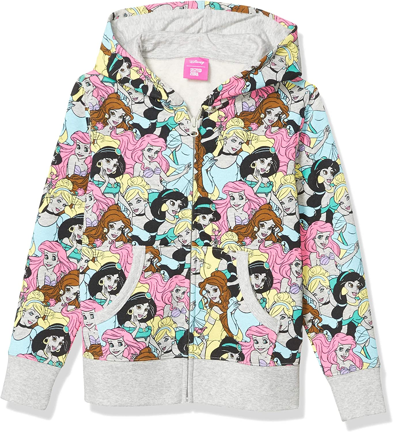 Spotted Zebra Girls Disney Star Wars Marvel Frozen Princess Fleece Zip-Up Sweatshirt Hoodies Brand