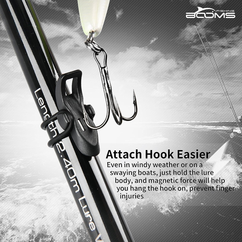 Booms Fishing HK1 Magnetischer Hakenhalter mit Gummikissen und O-Ringen