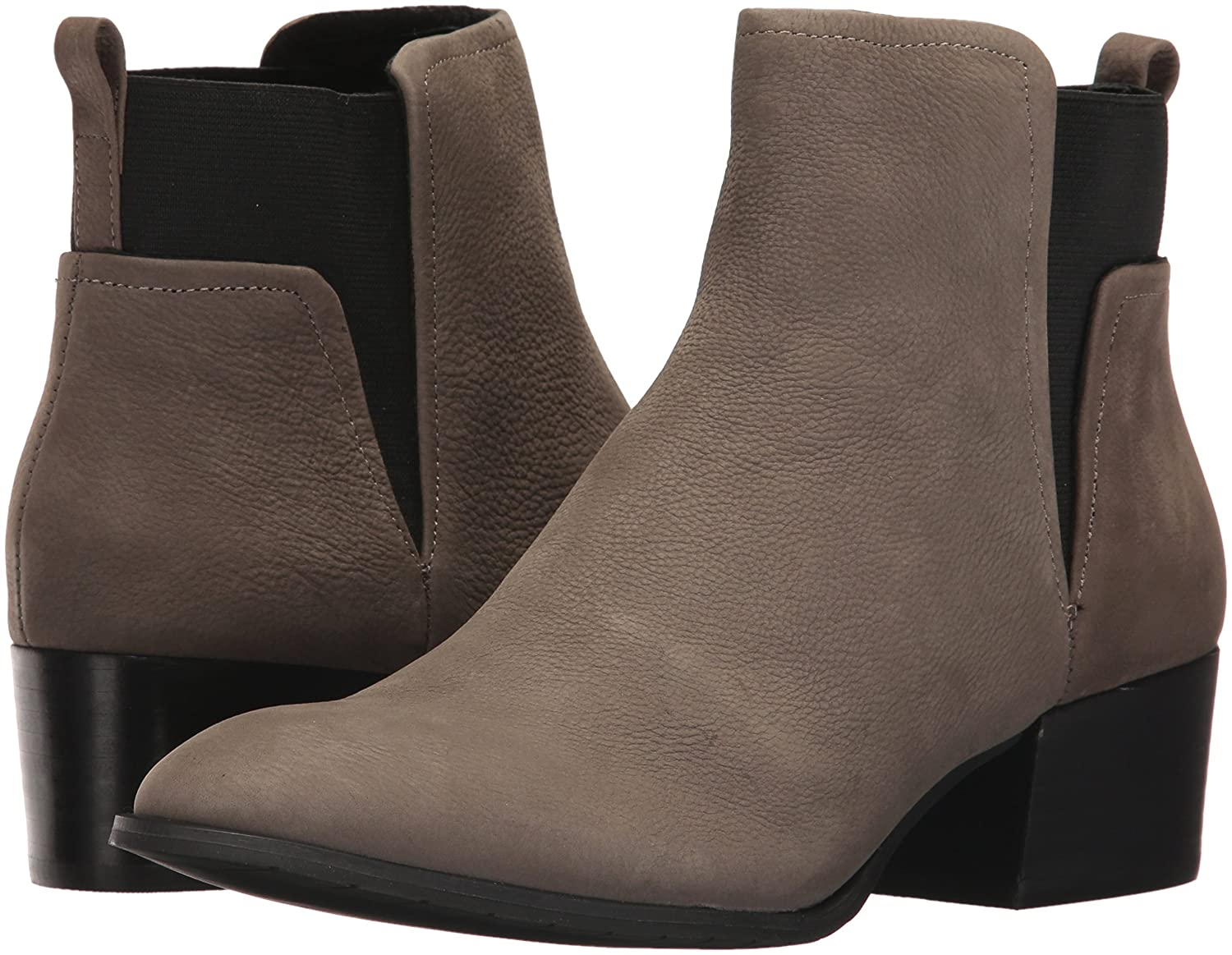 Kenneth Cole New York Women's Artie Pull Low Heel Nubuck Ankle Bootie B06ZYBMJCH 6 B(M) US|Cement