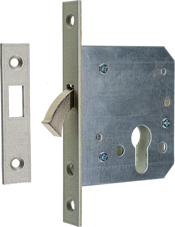 Cerradura corredera con cerrojo PZ 55 20 x 151 con placa de cierre.: Amazon.es: Bricolaje y herramientas