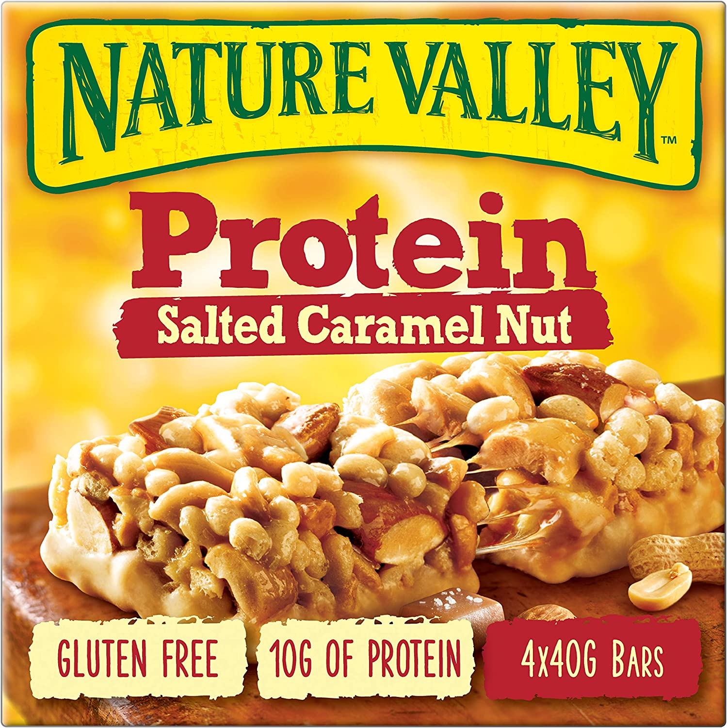 Nature Valley Salted Caramel Nut Bars 4 X 40g Amazon Co Uk Grocery