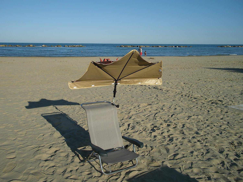 STRANDLIEGESTUHL EXKLUSIV - 2,4 Kilo tragbarer leicht - FARBE SAND - von Sitz in Liegeposition verstellbar ROBUST- STRANDSTUHL - STABIELO - 120 Kilo belastbar - 6 fach verstellbare Lehne - klappbar in Liegefläche - sandfarben oder flieder - INNOVATIO