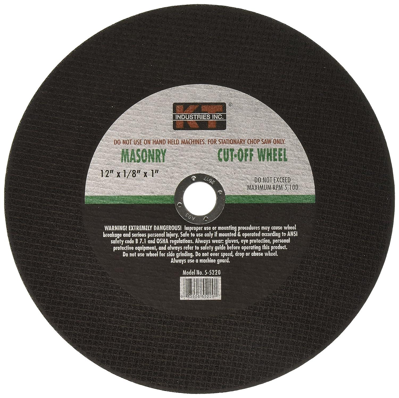K-T Industries 5-5220 12 x 1//8 x 1 Masonry Cut Off Wheel