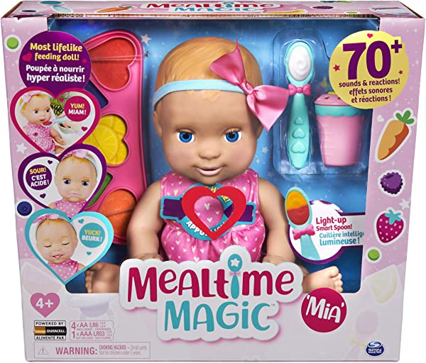 Luvabella Mealtime Magic Mia baby doll in packaging