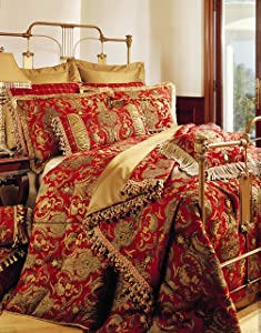 Sherry Kline China Art Red 6-Piece California King Comforter Set