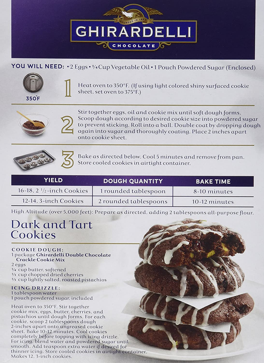 Ghirardelli Dark Chocolate Brownie Mix Instructions