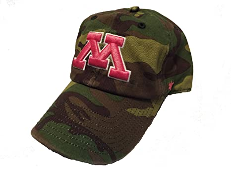 timeless design e0155 a9e58 Image Unavailable. Image not available for. Color  NCAA Minnesota Golden  Gophers 47 Brand Fashion Clean Up Camo Pink Women s Adjustable Hat