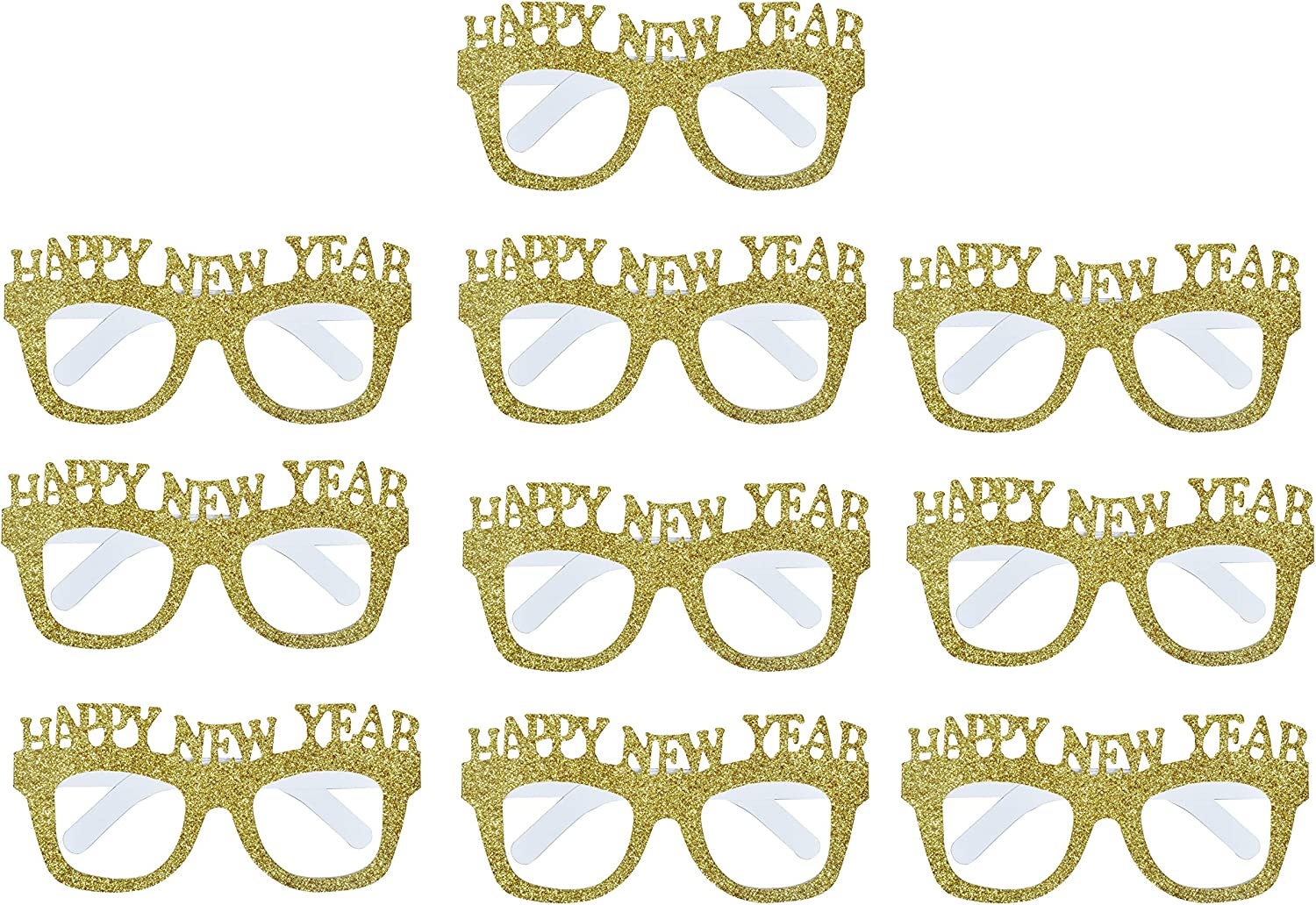 EBTOYS Happy New Year Party Favor Funny Glasses Party Sunglasses Party Props Costume Party Supplies,10 Pack
