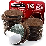"X-PROTECTOR Premium 16 Thick 1/4"" Heavy Duty Felt Furniture Pads 2""! Felt Pads for Heavy Furniture Feet – Best Felts Wood Flo"