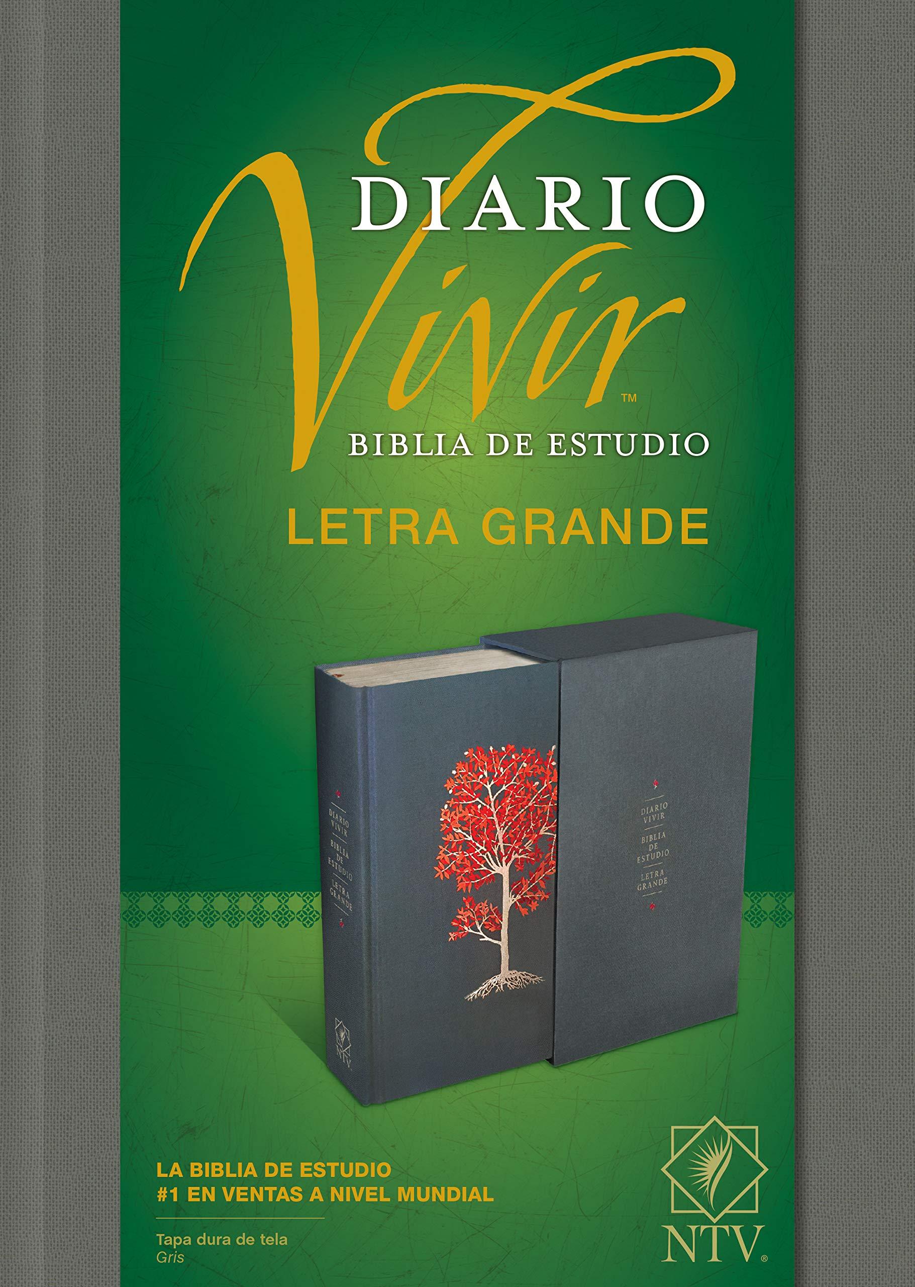 Biblia de Estudio del Diario Vivir Ntv, Letra Grande: Amazon ...