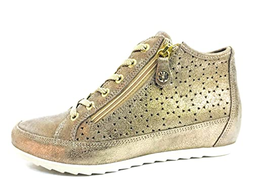 ENVAL SOFT 12559 Taupe Scarpa Donna Sneaker Zeppa Interna Pelle Made in  Italy  Amazon.it  Scarpe e borse bfcf2ee7705
