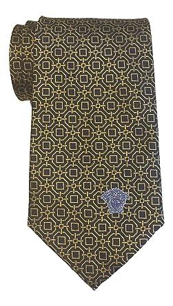 Versace. Corbata geométrica de oro azul marino: Amazon.es: Ropa y ...