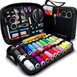SEWING KIT for Adults with over 100 Easy-to-Use Premium Sewing Supplies & 24-Color Threads, a Needle & Thread Kit for Small F