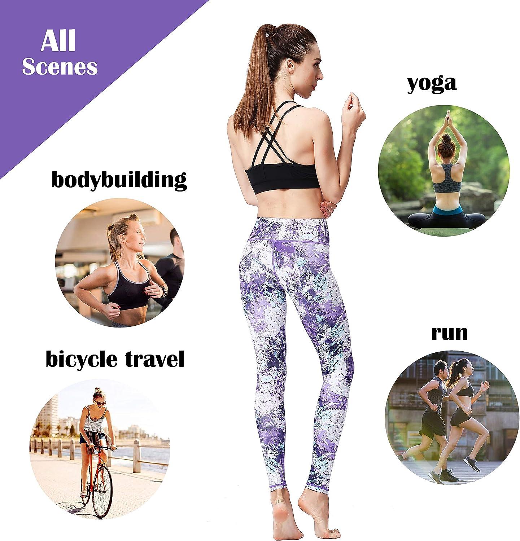 TToo Womens Yoga Running Pants Yoga Pants Women Printed Over The Heel Yoga Leggings High Waist Yoga Leggings