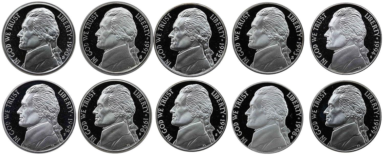 1990 P/&D Jefferson Nickels