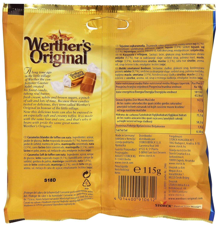 WertherS Original - Caramelos blanos de toffee con nata - 115 g: Amazon.es: Alimentación y bebidas