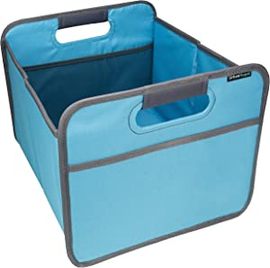 """urbanhouse Foldable Compact Storage Box and Caddy for Craft, School, Office, Trunk Organizer 14.5"""" x 13"""" x 10.75"""" (6.6 Gallon Capacity) - Blue…"""
