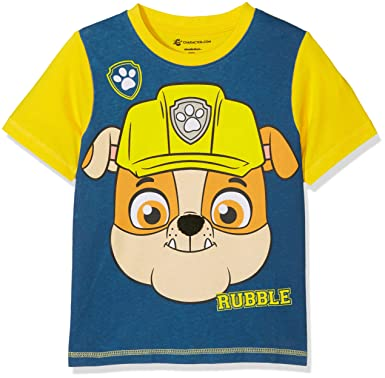 New Official Boys Paw Patrol 3 Design Marshall Chase Rubble Tshirt Ages 2-6 Yrs