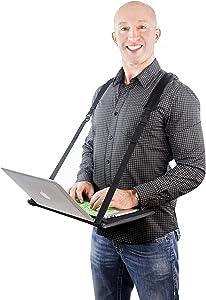 """VitaliZEN Laptop Harness New Improved Design, Hands-Free Portable, Adjustable, Wearable Desk for 15"""" Laptops, Tablet, Notepad, MacBook, etc"""