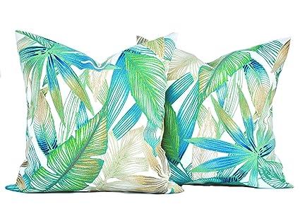 Amazon 40 Palm Pillow Covers Tropical Decorative Throw Pillow Best Tropical Throw Pillow Covers