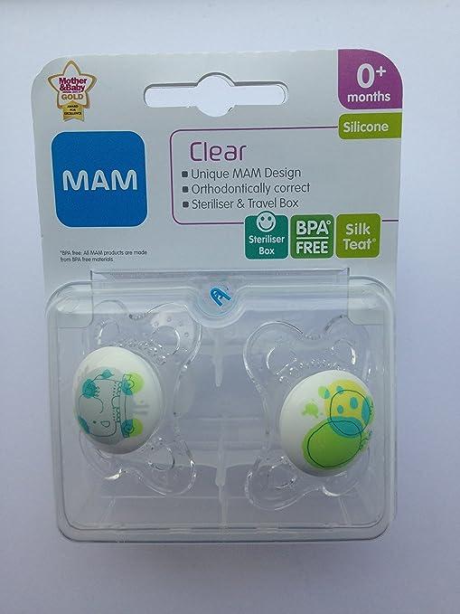 MAM Clear: 2 x Chupetes 0m+ (Elefante / Globos): Amazon.es: Bebé