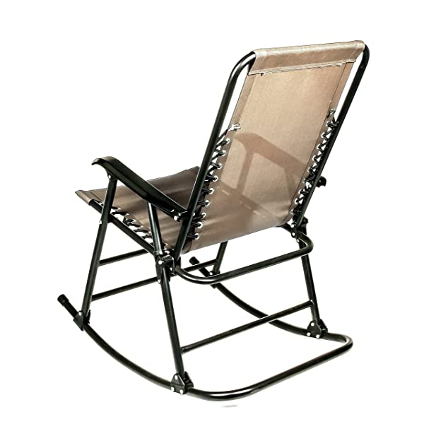 Camco 51851 Tan Folding Rocking Chair
