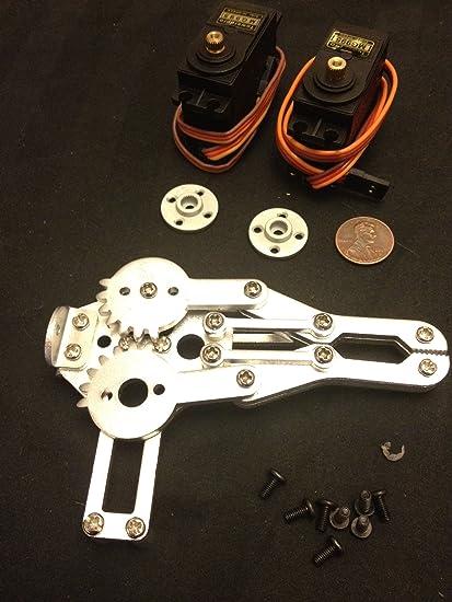 Amazon com : Robot Arm Clamp Claw Turntable Base 2 Rc Servo Mg995