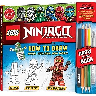 KLUTZ LEGO NINJAGO How To Draw Ninja, Villains, And More! Drawing Set: Klutz, Veesenmeyer, Dan: Toys & Games