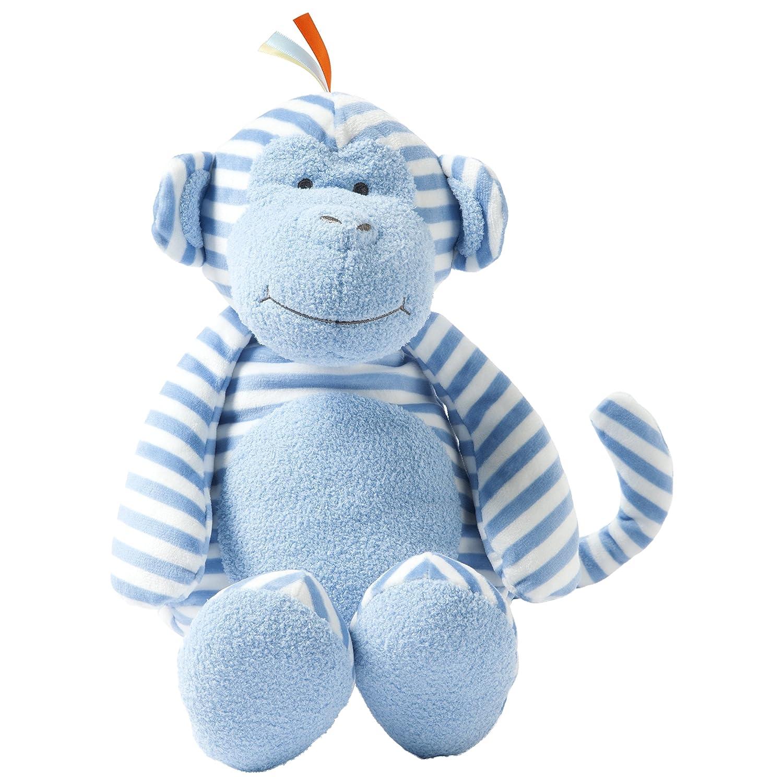 Amazon.com: Manhattan Toy Plush Baby Toy, Blue Striped Monkey, 17\
