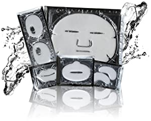Deep Pore Detox 5 Facial Masks Kit, Eyes, Lips, and Face Mask with Glycolic Spa Set - Diminishes Dark Circles Under Eyes, Intense Hydration and Tightening Face Mask Set