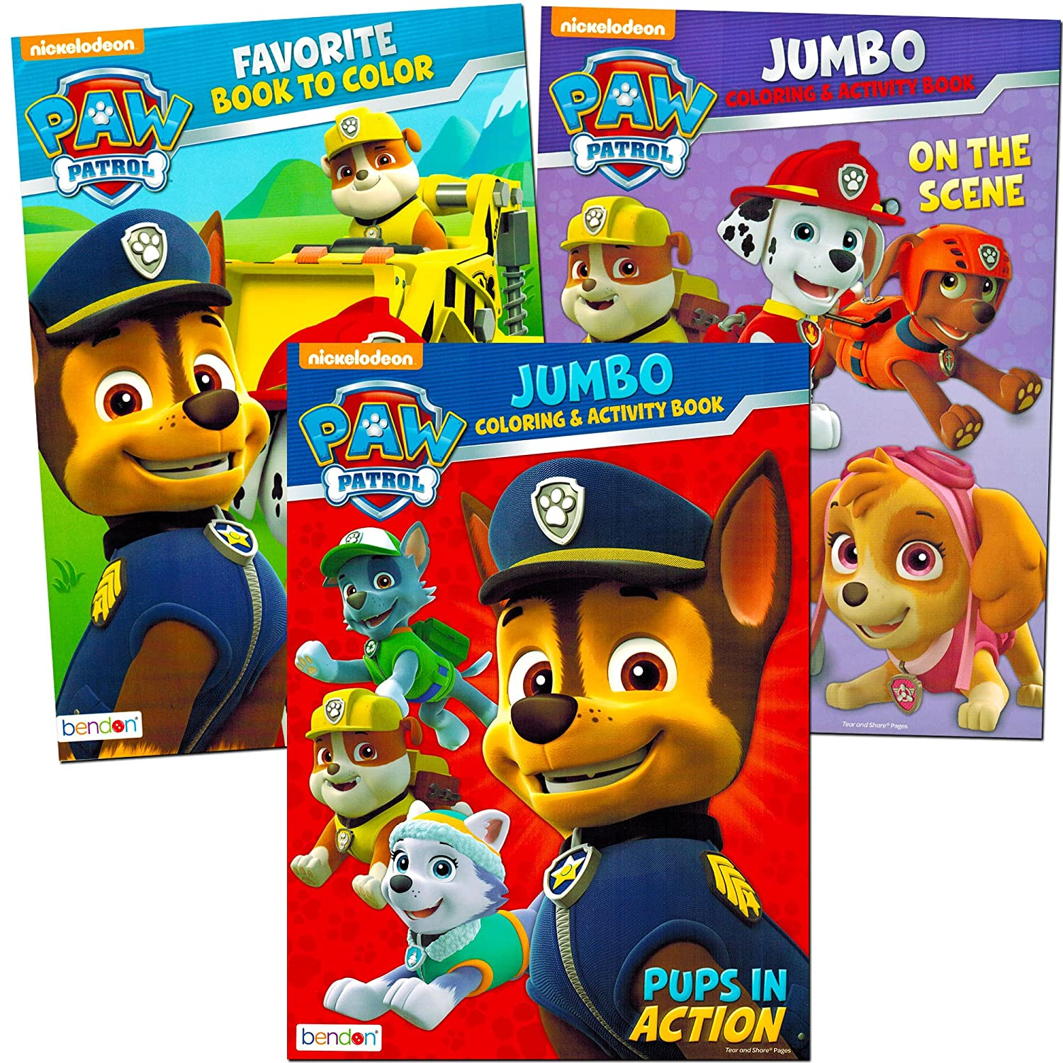 amazoncom paw patrol coloring and activity book set 3 coloring books toys games