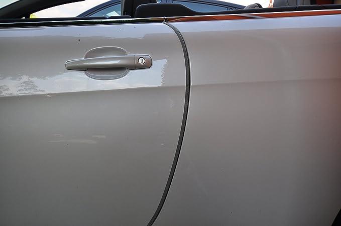 2 Meter T/ürkantenschutz Carbon Look//schwarz T/ürrammschutz Gummi sch/ützen Sie effektiv Ihren kostenbaren Auto Lack
