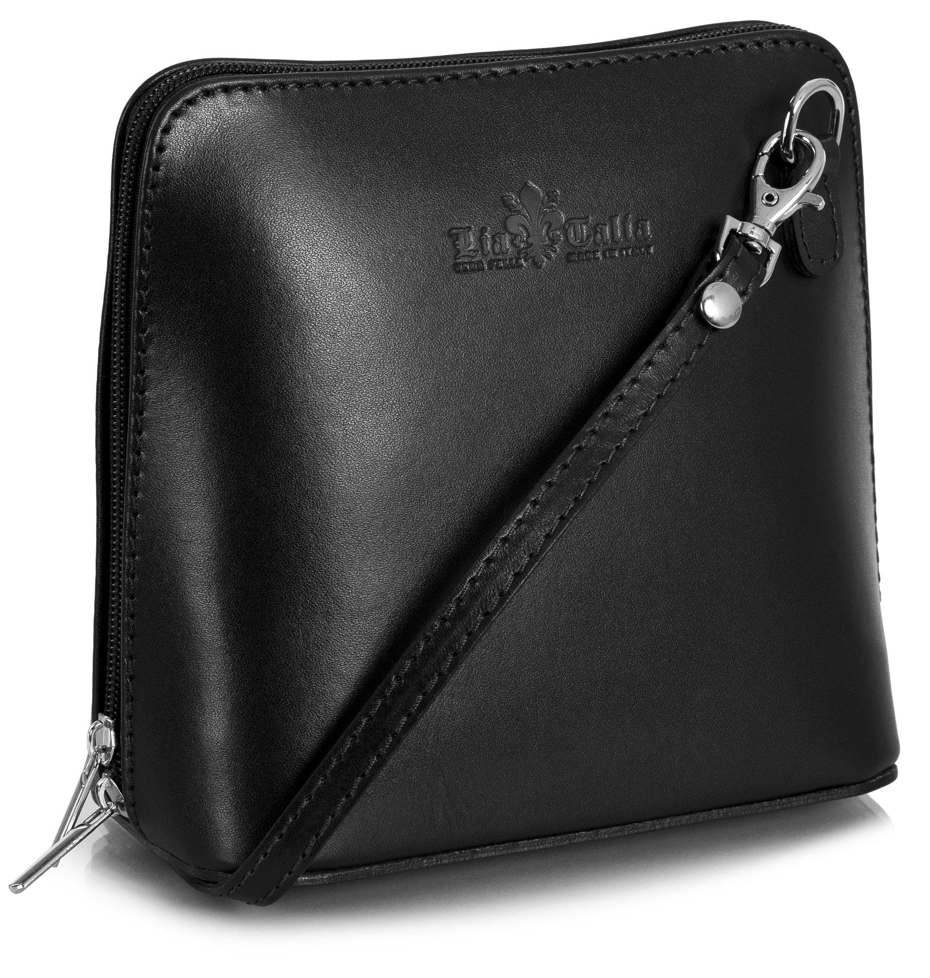 Genuine Italian Leather Small Mini Cross Body Bag Women Shoulder Bag Vera Pelle