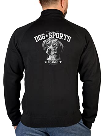 Beagle Hunde Zip Pullover Hunderassen Motiv Zip Sweater : Beagle --  bedruckter Herren Zip Sweater