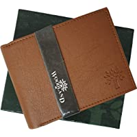 FASHIONEVER R 655 Men's Fabric Wallet (Brown)
