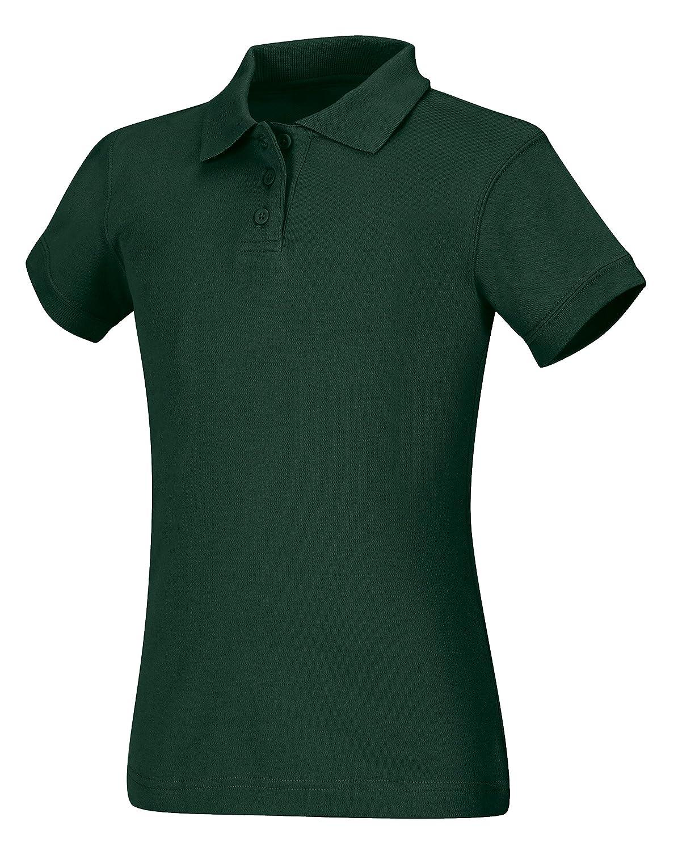 Hunter Green CLASSROOM Little Girls Interlock Cap Sleeve Polo X-Small