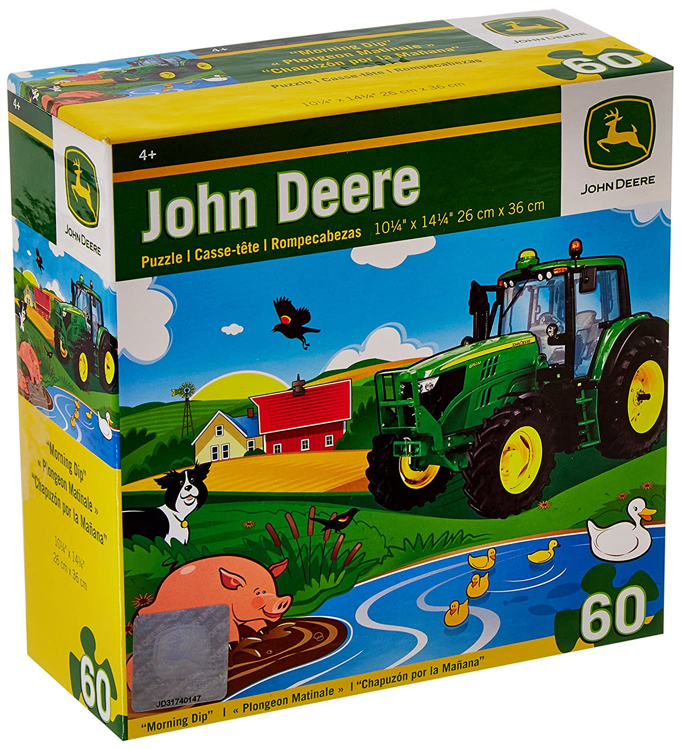 MasterPieces John Deere Morning Dip Jigsaw Puzzle, 60-Piece
