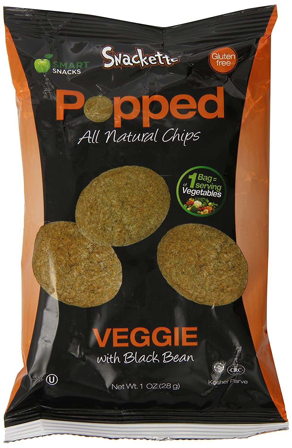 Amazon.com: SNackette Popped Chips with Black Bean Veggie, 1 Ounce ...