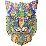 BaSi FoQo 261 Unique Shape Pieces Wooden Jigsaw Puzzles–Pharaoh Cat Size 11.8x15.7 in(30x40cm) Puzzle Animal Jigsaw Wooden Pu