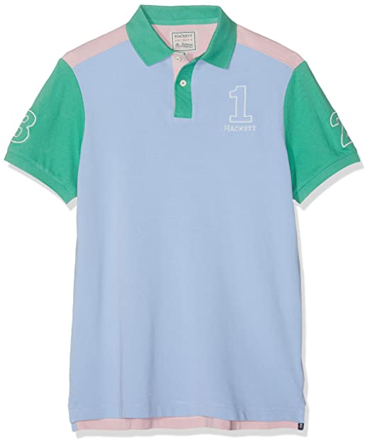 Hackett London Archive Colour Block Polo para Hombre: Amazon.es ...