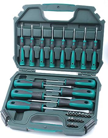 Mannesmann M11850 - Juego de destornilladores, 30 piezas: Amazon.es: Bricolaje y herramientas