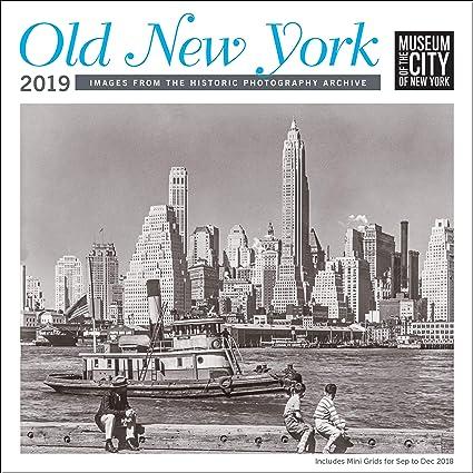 c98b9270c493 Amazon.com   Old New York MCNY Wall Calendar 2019 Monthly January ...