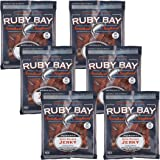 Ruby Bay Wild Salmon Jerky Peppered - 6 Pack - Gluten Free - Non GMO - Kosher - Naturally High in Omega-3
