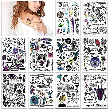 Amazon.com : Temporary Tattoos Stickers(10Sheets 237Designs ...